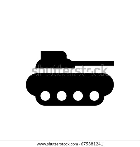 tank icon in trendy flat style