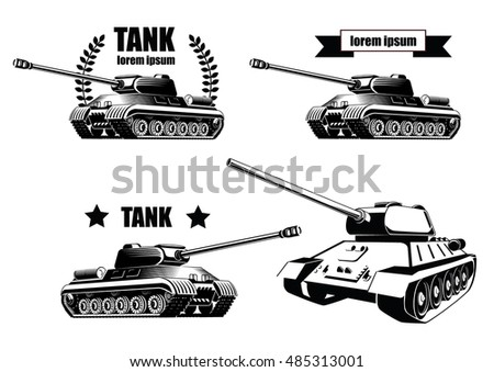 tank icons isolated on white