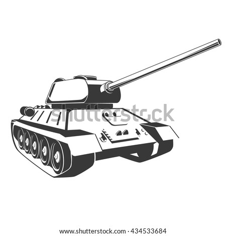 tank isolated on white