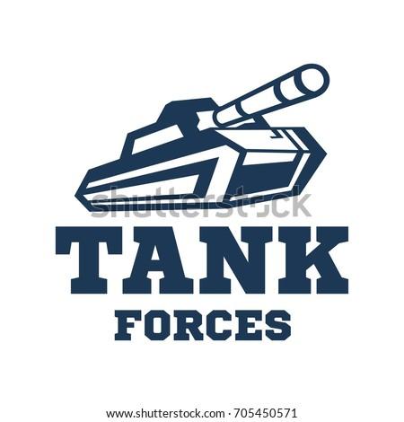 tank logo template military
