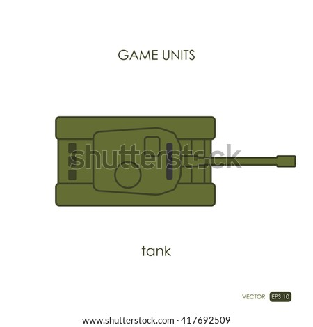 tank on white background
