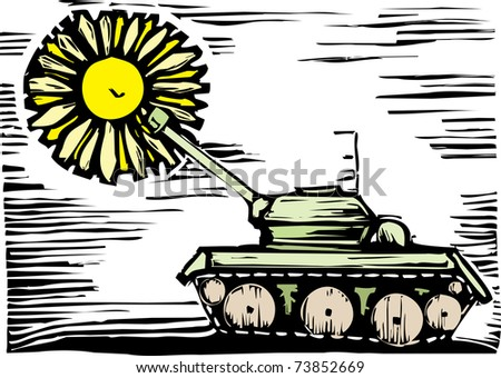 tank shoots but a flower