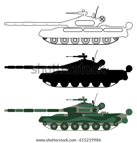 tank silhouette  cartoon