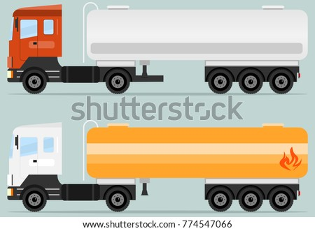 Tank truck, tanker icon. A realistic tank truck. Flat design, vector illustration, vector.