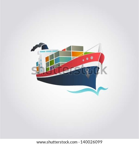 tanker   cargo ship with