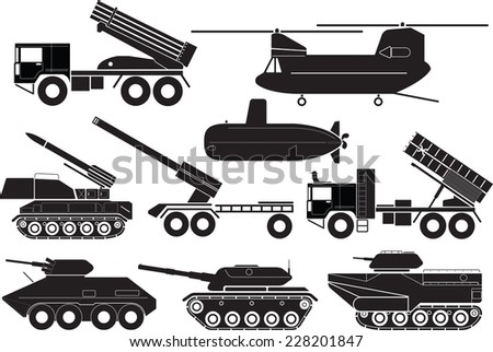 tanks icon set