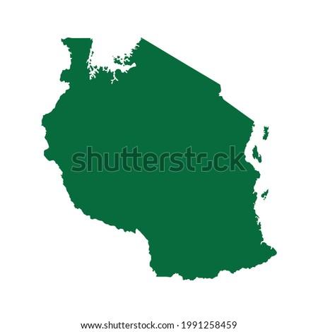Tanzania Map. Tanzania Map vector illustration. Tanzania map silhouette ストックフォト ©