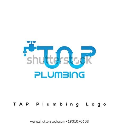 TAP Plumbing Logo Design. Plumbing Logo Design Foto stock ©