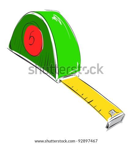 Meter Icon Tape Measure Meter Icon Sketch