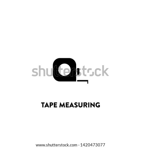 tape measuring icon vector. tape measuring sign on white background. tape measuring icon for web and app