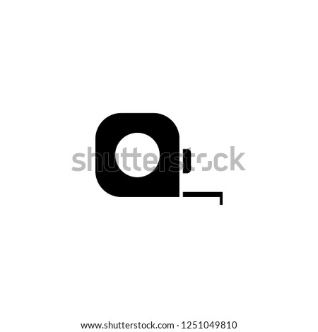 tape measuring vector icon. tape measuring sign on white background. tape measuring icon for web and app