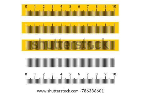 Tape ruler metric measurement. Metric ruler. 10 centimeters metric vector ruler with yellow and black color. Metric ruler vector set with black and yellow color