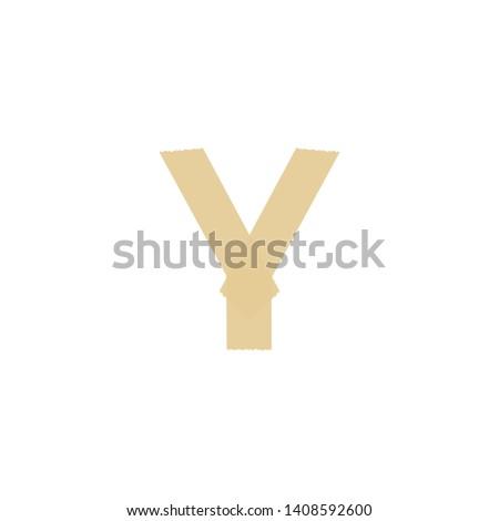 Tape Vector Logo Letter Y. Y Letter Design Vector