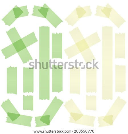 Tape yellow and green