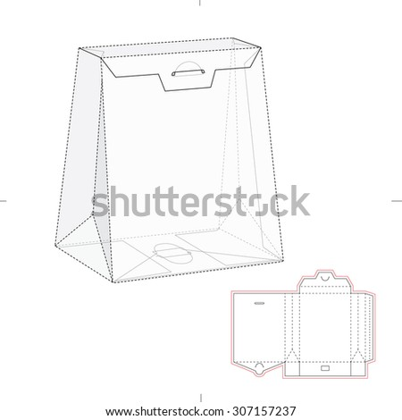 Royalty free paper bag with blueprint and layout 301854836 stock tapered bag with blueprint die line 307157237 malvernweather Gallery