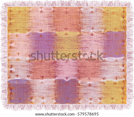 tapestry with grunge striped