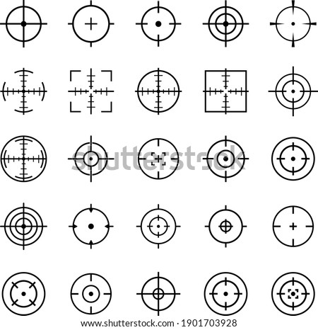 Target aim. Set of targets and destination icon, logo isolated on white background