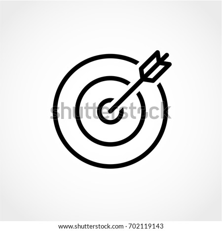 target and arrow icon isolated...