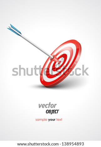 target and arrow - vector illustration