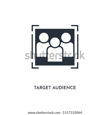 target audience icon. simple element illustration. isolated trendy filled target audience icon on white background. can be used for web, mobile, ui.