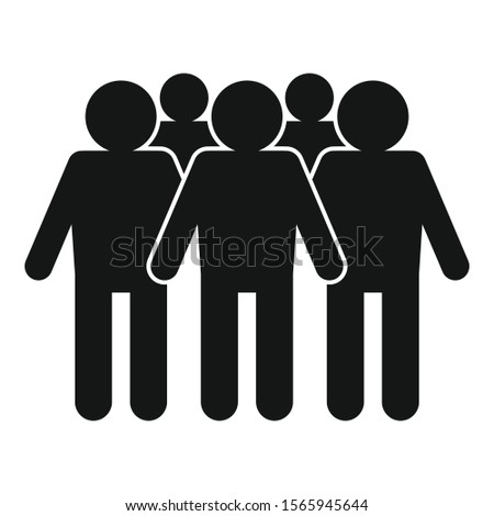 Target audience icon. Simple illustration of target audience vector icon for web design isolated on white background