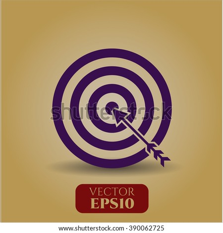 Target (Business) icon vector illustration