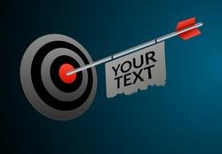 Target business illustration vector aim backgorund. Business goal performance arrow target success