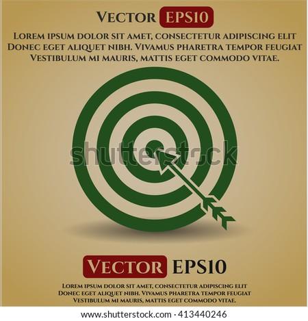 Target (Business) vector symbol
