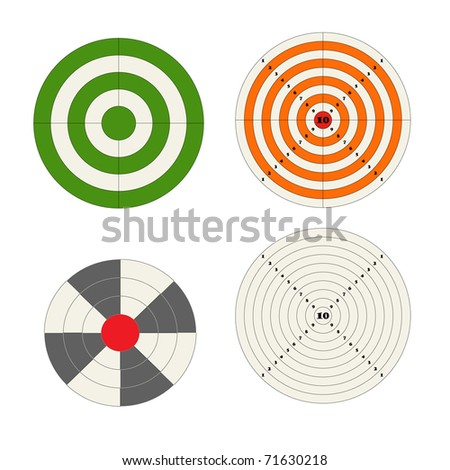 Target collection - stock vector