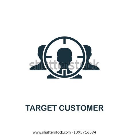 838efbd0406 Target Customer icon. Creative element design from business strategy icons  collection. Pixel perfect Target