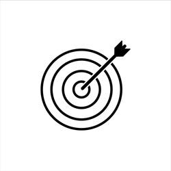 Target / Dart Icon Vector Illustration - Vector