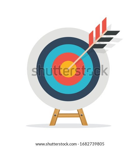 Target Flat Concept Icon Vector Illustration. Target Icon Image. Target Icon Sign. ストックフォト ©