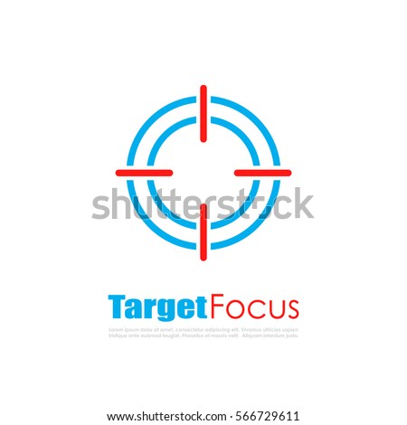 target focus abstract vector