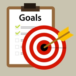 target goals vector icon success business strategy concept