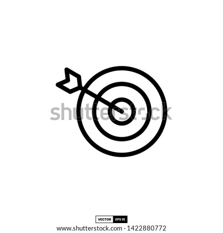 Target icon, design inspiration vector template for web design or mobile app