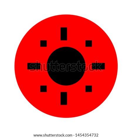 target icon. flat illustration of target. vector icon. target sign symbol