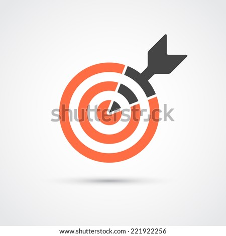 Target icon for business or sport. Element for web, mobile or print.