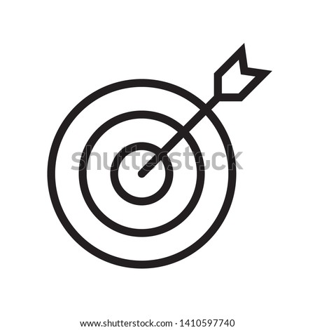 Target icon in trendy outline style design. Vector graphic illustration. Target symbol for website design, logo, app, and ui. Editable vector stroke. EPS 10.