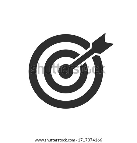 Target icon set on white background Foto stock ©