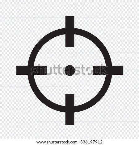 target icon sign illustration