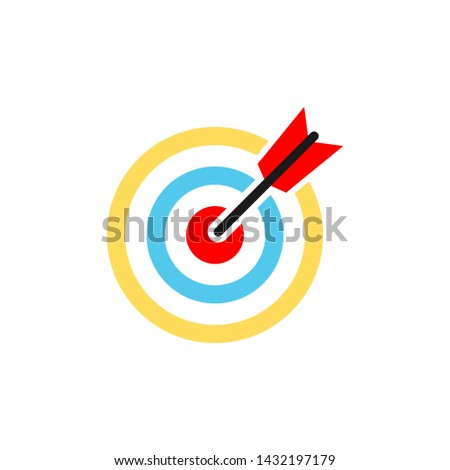 Target icon. Target vector icon