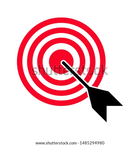 Target icon. Target vector icon on white background