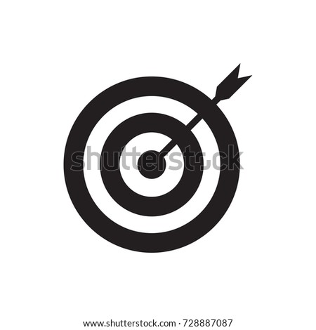 target icon vector isolated on white background