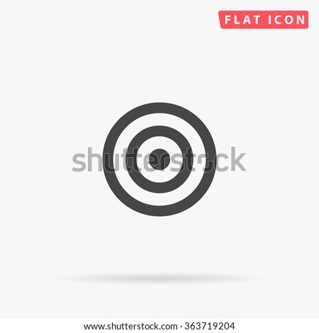 Target Icon Vector. Simple flat symbol. Perfect Black pictogram illustration on white background.