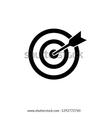 Target icon vector. Target symbol vector