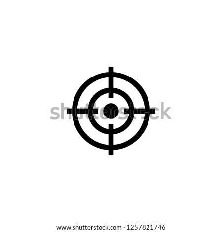 target icon vector. target vector graphic illustration