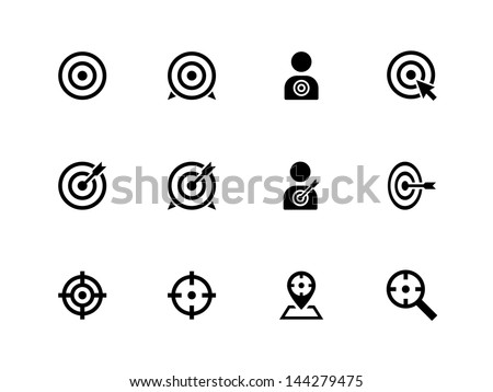 Target icons on white background. Vector illustration.
