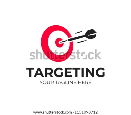 Target logo design. Dartboard and dart vector design. Target goal and arrow logotype