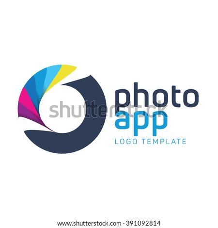 Target logo. Technology logo. Digital logo. Photo logo. Colorful logo design