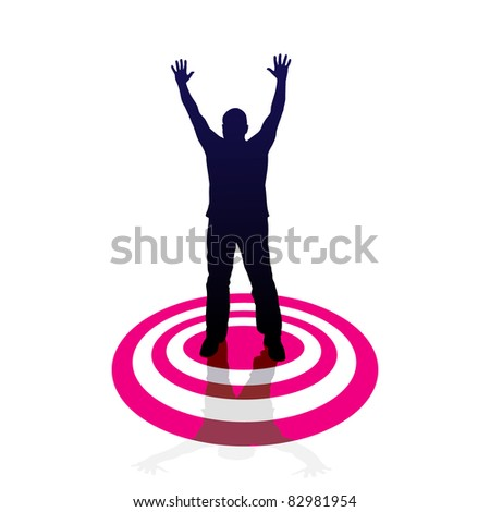 Target - man, vector sign
